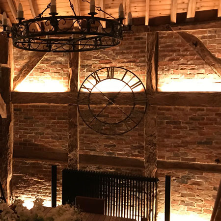 Feature and statement lighting in converted barn